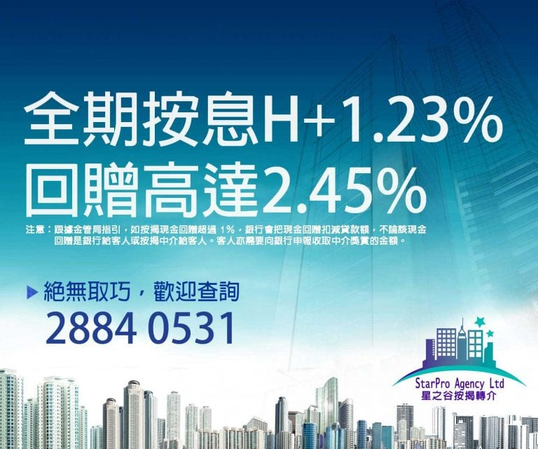 按揭回贈 2.45%